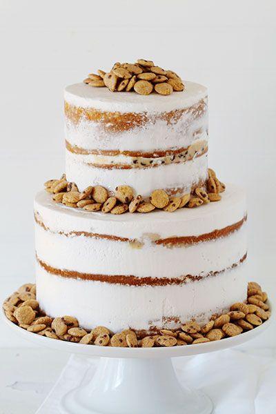 Cookie Crisp Naked Cake! by @iambaker xo