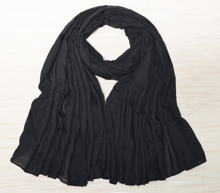 Cotton Hijab Black