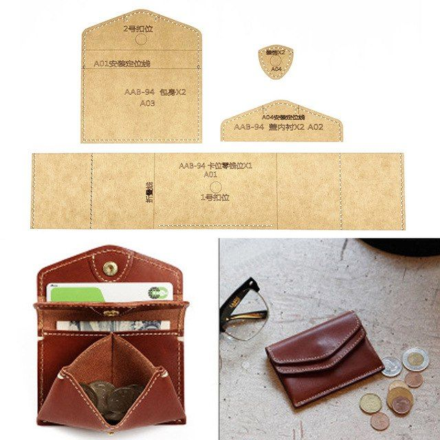 DIY Leather Billfold Purse Making Kit Make Your Own Leather Wallet