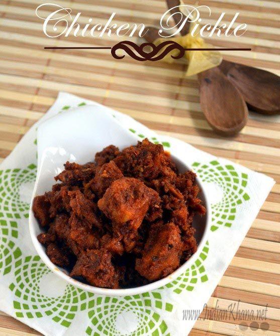 Andhra Chicken Pickle Recipe