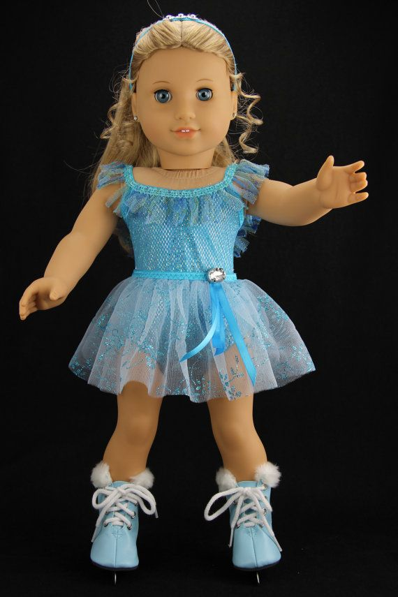 Handmade 18 inch doll clothes Aqua 3 piece by DolliciousClothes