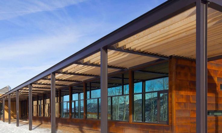 Studio B redesigned the Aspen Community School in Colorado to include rooftop solar and a beautiful materials palette that matches the landscape.