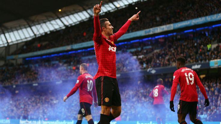 Célébration a Manchester United dédiée aux supporters #9ine @VanPersie