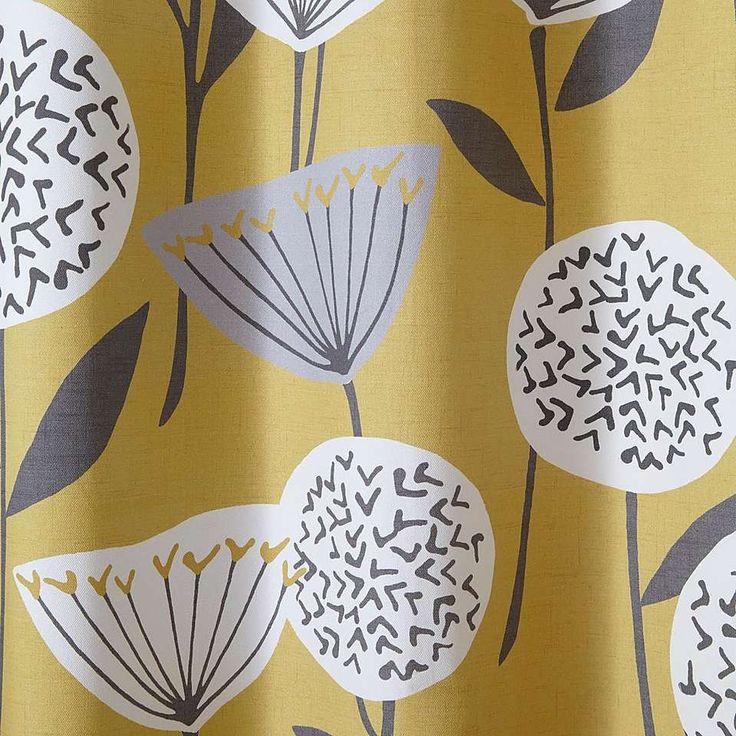 Elements Emmott Ochre Eyelet Curtains | Dunelm