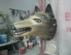 Wolf Head Statue