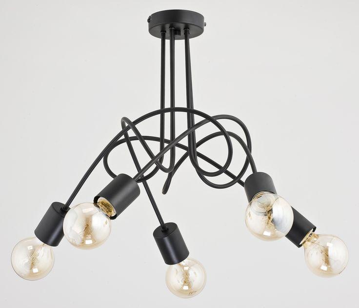 Lampa wisząca zwis Alfa Tango 5x60W E27 czarna #lampa #lampawiszaca #alfa #alfatango #ciekawelampy