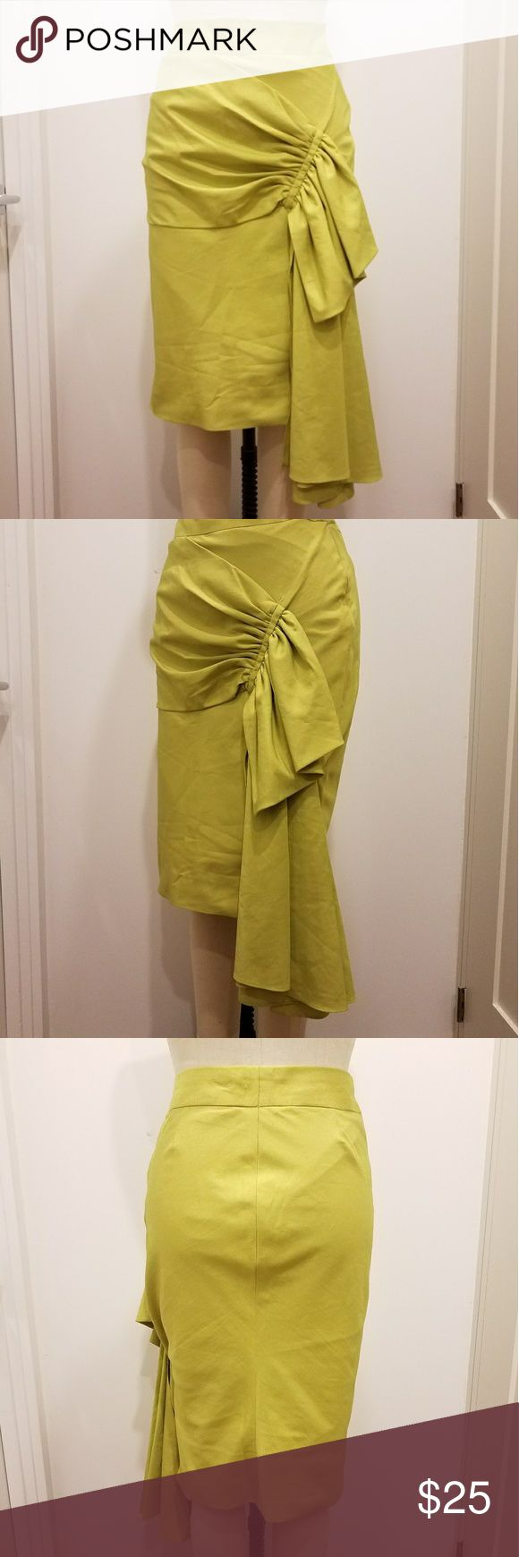Selling this Chartreuse green 40s draped pencil SKIRT L.A.M.B 6 on Poshmark! My username is: cheapthrillz83. #shopmycloset #poshmark #fashion #shopping #style #forsale #handmade #Dresses & Skirts