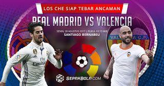 livestream sports free online | Primera División | Real Madrid Vs. Valencia | live stream | 27-08-2017