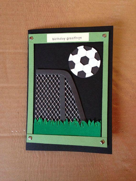 Handmade Birthday Card  Boy  Soccer by ubercards on Etsy