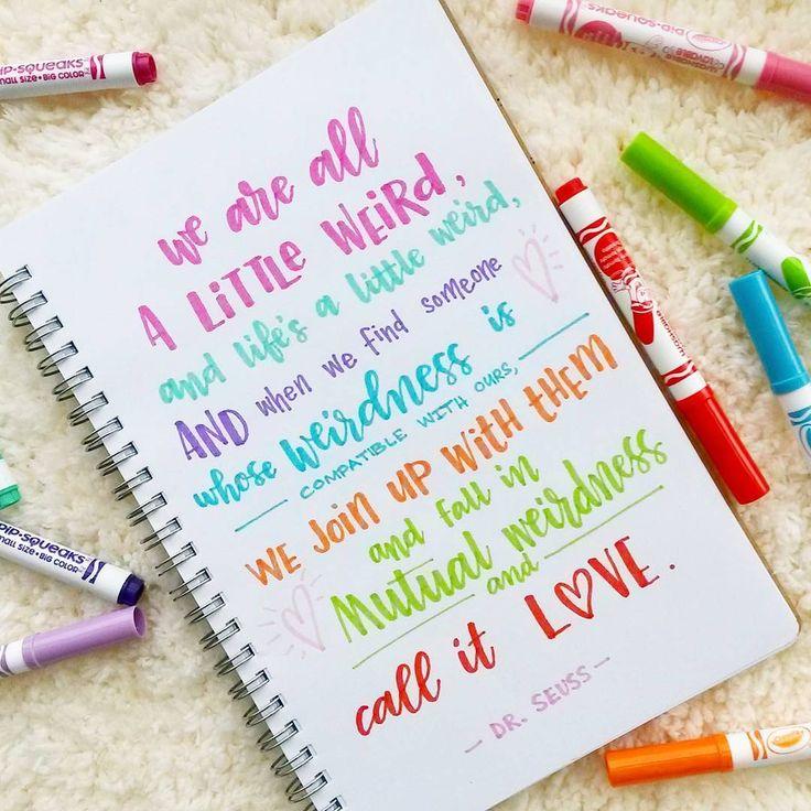 We call it love ♡♥♡♥♡♥ #crayoligraphy #crayola #drseuss #drseussquotes . . . . .  #LetterItFebruary #valentines #love #ApsiLetters  #handlettering #lettering #typographyart #typography #brushlettering  #brushcalligraphy #calligraphy #kindness #positivity #positivevibes  #wordsofwisdom #quoteoftheday #qotd #quote #quotes #quotestoliveby  #spreadthelove  #pretty  #handletteredabcs   #365doodleswithjohannafritz @byjohannafritz #happybirthdaydrseuss