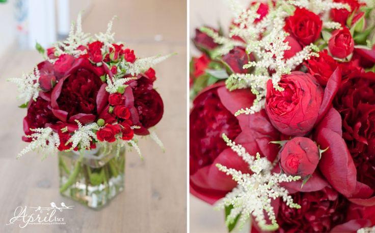 Peony#wedding bouquet #красный свадебный букет#пионы