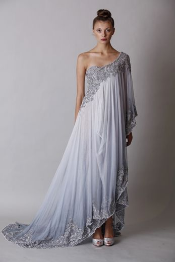 not crazy about bare shoulder but something about this dress is just so appealing to me - like a muse.