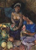 Roland Strasser (Austrian, 1895 - 1974) Enjoying Fruits