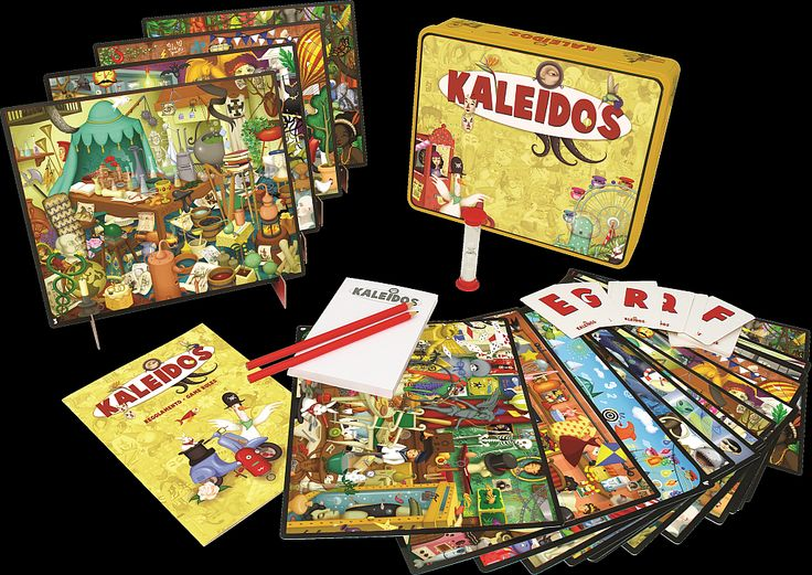2015 time for a new edition of my best selling game Kaleidos, to celebrate the 20th anniversary on the market. The art of this new edition has been entirely designed by the highly talented Elena Prette and is co-published by my company (KaleidosGames) and the French CocktailGames.