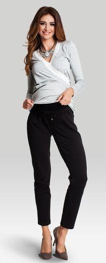 Vagabond black хлопковые брюки для беременных