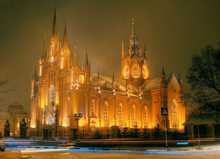 ROYAL RUSSIA: News, Videos & Photographs About the Romanov Dynasty, Monarchy and Imperial Russia - Updated Daily Roman Catholic Cathedral of the Immaculate Conception in Moscow, built in 1894.