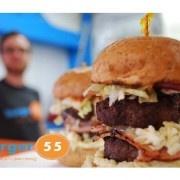 Burger 55  Customize your craving... Custom-built gourmet burgers located in downtown Penticton. Mon Sat 11am 8pm Sun 11am-7pm.  Website: http://www.burger55.com  Address: 85 Westminster Avenue, East