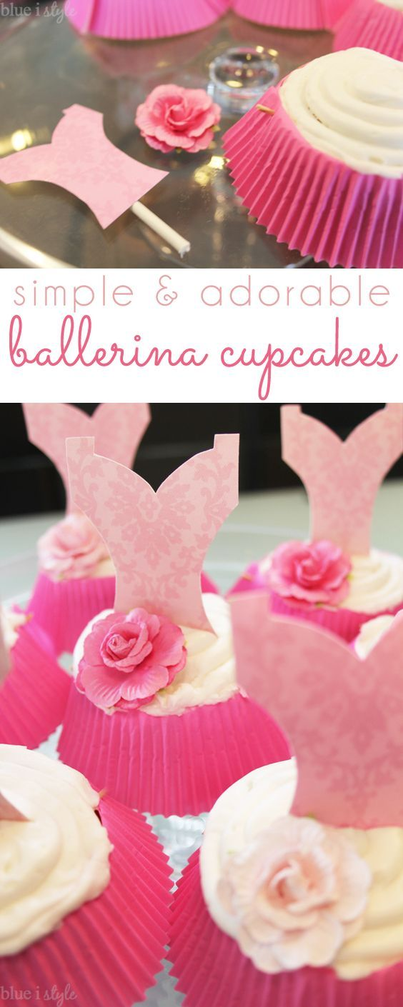 HOW TO MAKE SUPER EASY & ADORABLE BALLERINA CUPCAKES! The supply list is simple, and no cake decorating experience is required - so easy, anyone can make these in under an hour! Perfect for a birthday party or a ballet class!