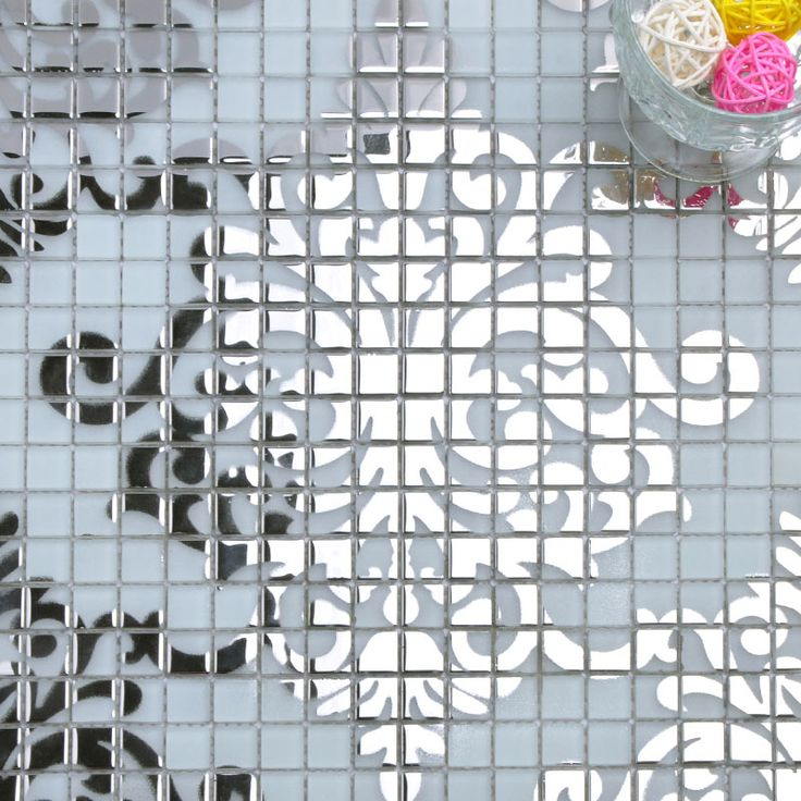Silver Glass Mosaic Tile Wall Murals Backsplash Plated Crystal Glass Tile  Patterns For Showers Designs TMF058