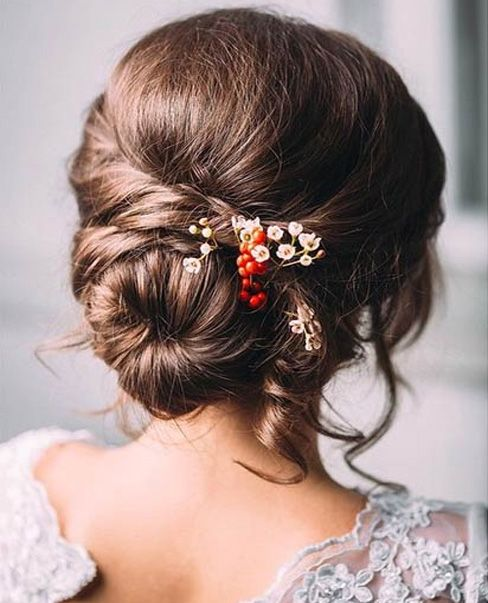 Low Bun Pretty Wedding Hairstyles 2015 – 2016