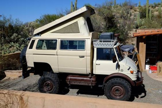 This 1979 Mercedes-Benz Unimog Expedition Camper is RAD!!!!