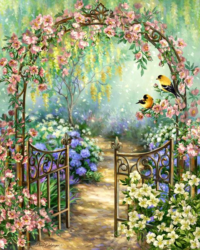 Fairy Tale Floral Arch In Bird And Butterfly Garden