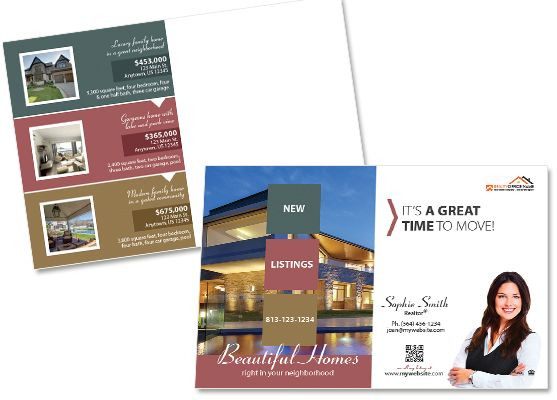Real Estate Postcards  Creative Real Estate Postcard Template