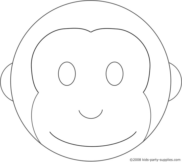 Cute Monkey Outline Images