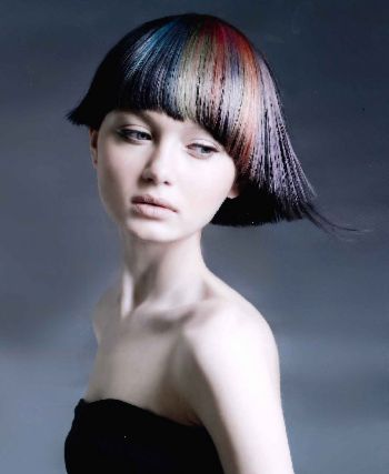 Quirky hair with subtle colour