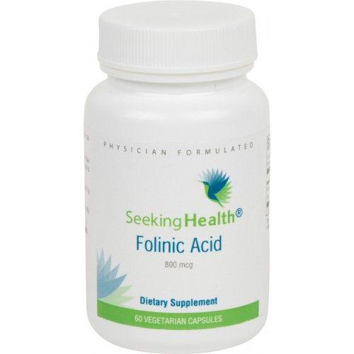 Folinic Acid Dietary Supplement Bottle