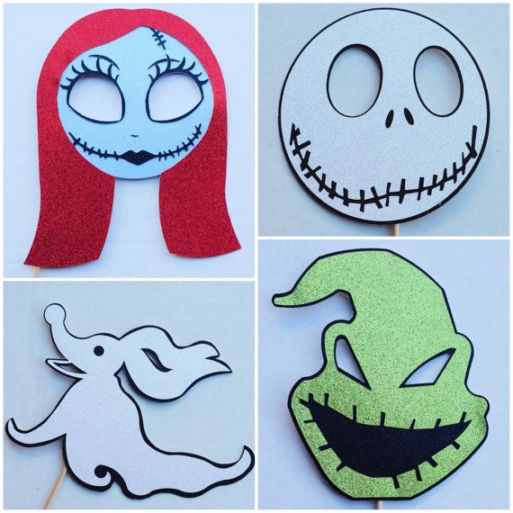 The Nightmare Before Christmas Party Decor Photo Booth Props by Lets Get Decorative