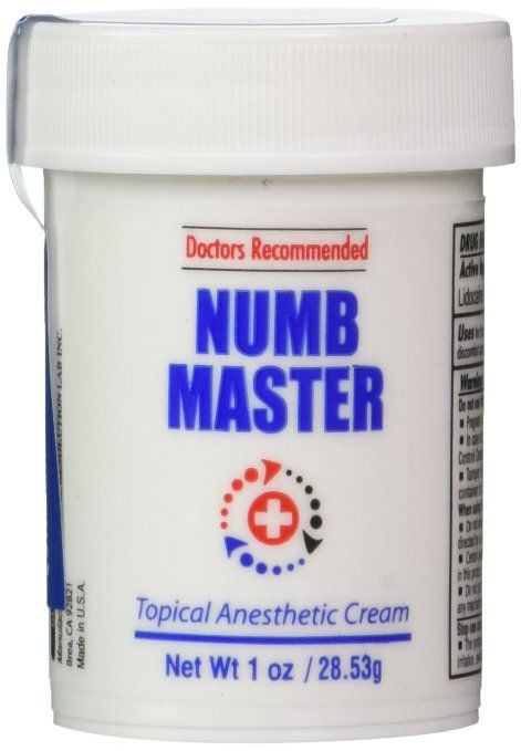 Numb Master 5% Topical Anesthetic Lidocaine Cream 1 Oz, Made in USA, Fast Penetration, Liposmal lidocaine, Non-oily