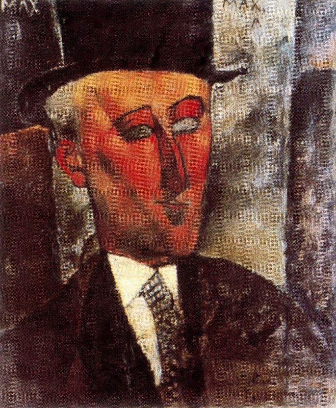Max Jacob, 1916 - Amedeo Modigliani http://www.wikipaintings.org/en/amedeo-modigliani/max-jacob-1916