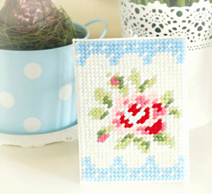 Beautiful needlepoint by becky @ hopscotch lane
