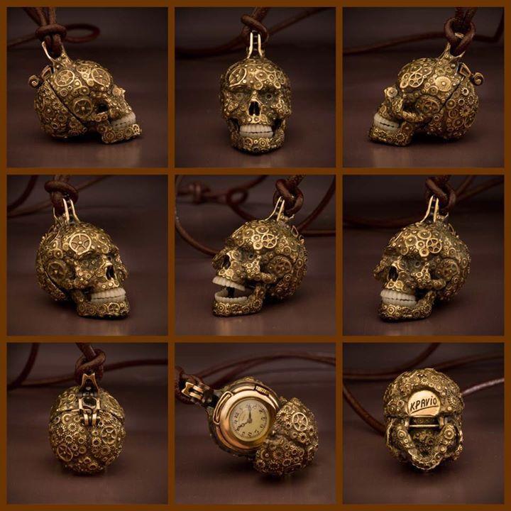 Skulls by Kpavio, very talented watchmaker. More skull inspirations and designs at skullspiration.com