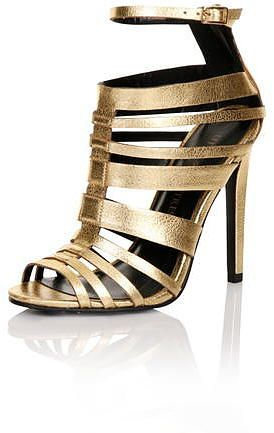 Womens gold court shoe from Dorothy Perkins - £53.60 at ClothingByColour.com