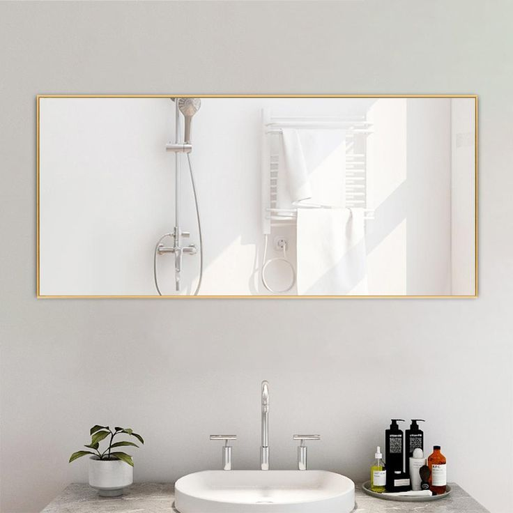 Longs Tides Blouin Distressed Wall, Chaz Modern Contemporary Beveled Bathroom Vanity Mirror