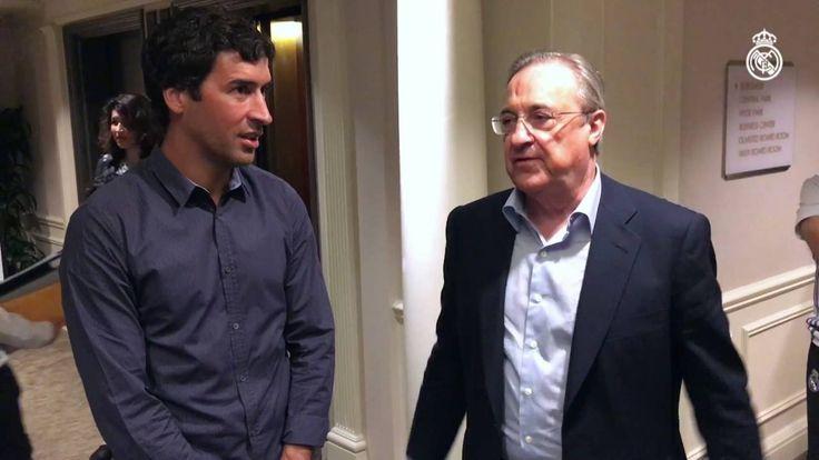 Ver Raúl visits the European champions New York base