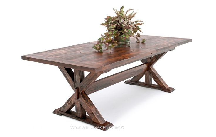 Rustic Farm Table in Barn Wood Finish. Available custom sizes.