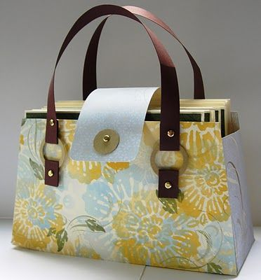 Stampin Up! Demonstrator - Kari Linder - Stampin Essentials blog, Stampin Up! ideas and tutorials: Purse made out of paper that holds cards and envelopes