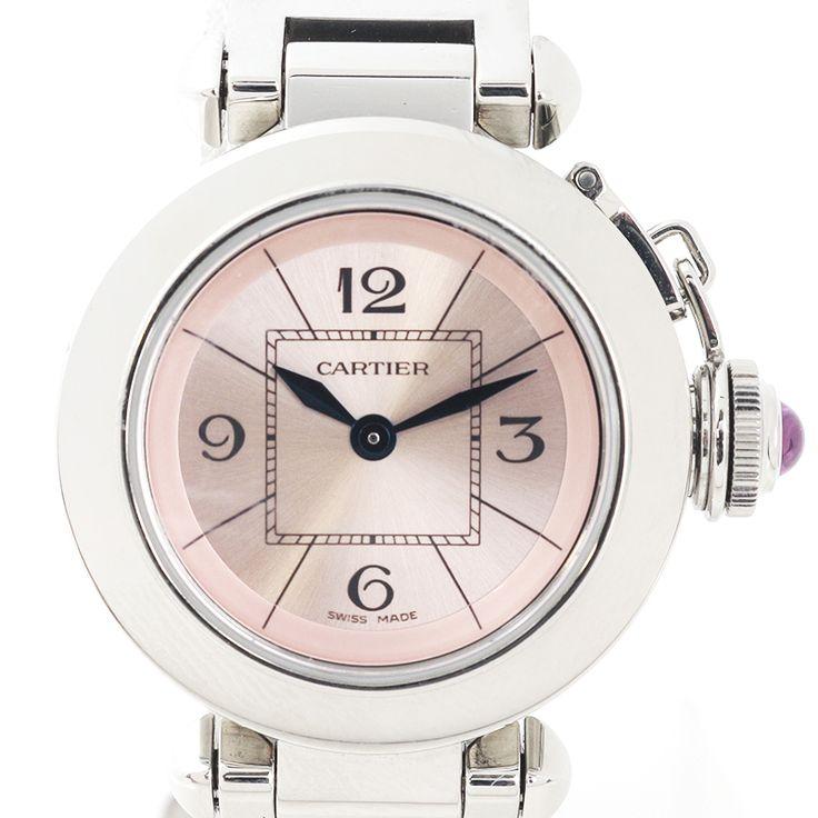 【商品名】カルティエ(Cartier) W3140008 ミスパシャ クオーツ SS レディース  ピンク文字盤時計【価格】¥218,000【状態】SA  2、3回使用程度の非常に綺麗な状態の商品です。