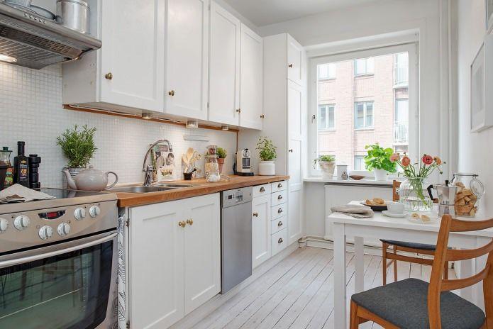 шведский дизайн интерьера кухни