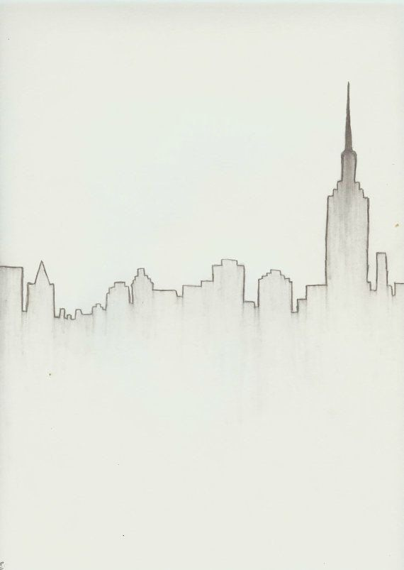 New York City Skyline Download Products Pinterest Drawings