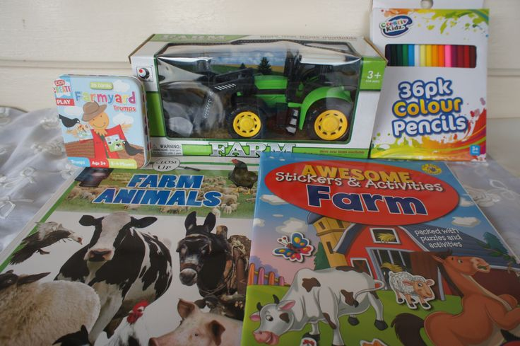 This fun gift pack for kids includes:Tractor Vehicle ToyFarm Card GameFarm Activity BookColoured Pencils 36 PackReading Book - Farm AnimalsPostage to anywhere in AustraliaComplimentary gift wrapping in quality brown with ribbon of choice.