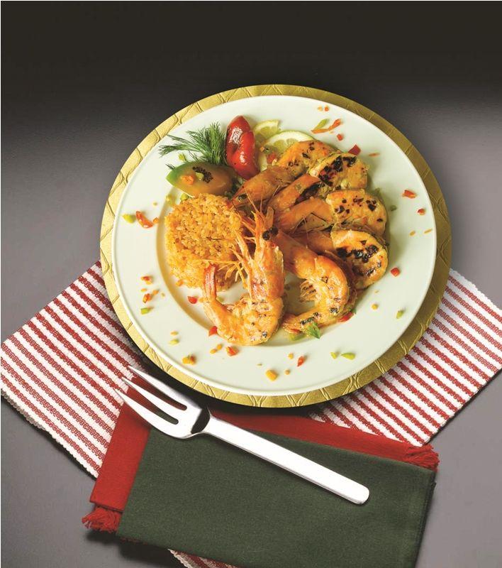 الروبيان المشوي بصلصة الليمون مطبخ سيدتي Recipe Food Chicken Wings Grill Pan
