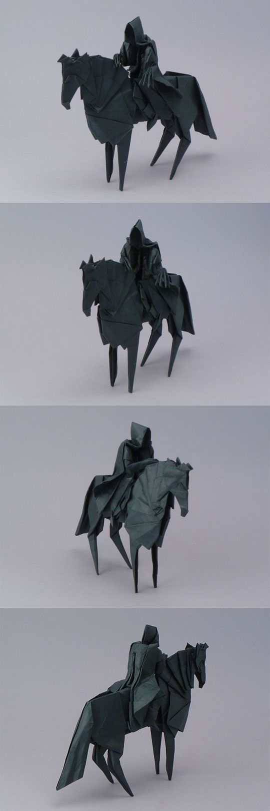 Origami Nazgul. Awesome! I'd make this for you but I'm  pretty sure I'd mess it up. Lol