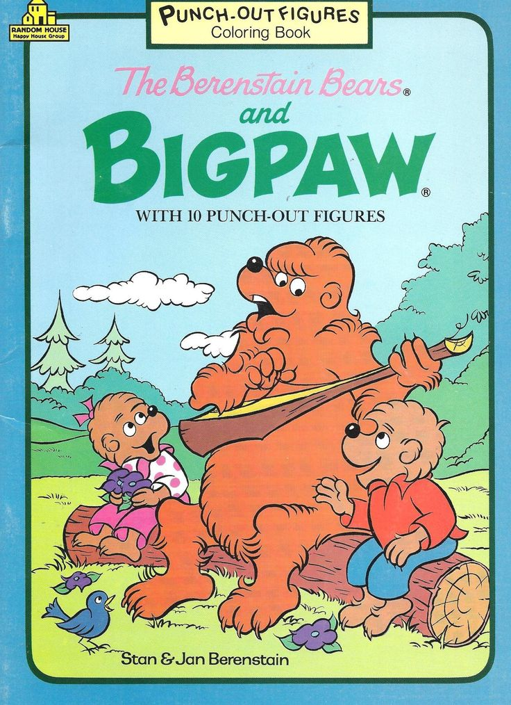 the berenstain bears and big paw coloring book with 10 punch out figures - Berenstain Bears Coloring Book