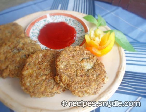 Banana Blossom Patties Recipe (Puso ng Saging) to veganize replace eggs with tapioca starch or agar -agar