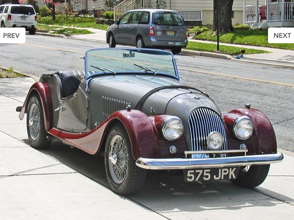1960 Morgan Plus 4 in Gray and Burgundy with black leather interior. Most Morgans of this period have steel bodies, with the exception of the rare Super Sports model. An alloy body was available, however, and this car is one of the few so outfitted. The engine was comprehensively rebuilt in 2006. It has a Crane electronic ignition, Morgan competition headers and side-exit exhaust, gear reduction starter, oversized ribbed oil pan, and bolt-on air filter. Call us today at 609-466-5305.