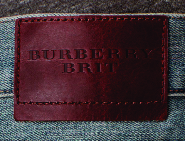 etiqueta de cintura burberry brit